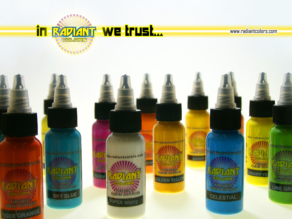 Tattoo ink radiant colors usa tattoo ink radiant for Ebay tattoo ink